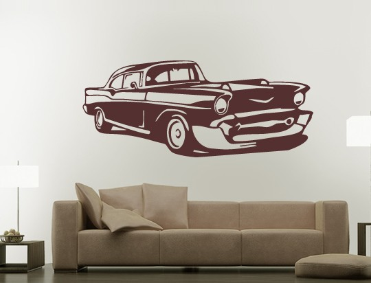 wandtattoo - us car retro - plusphoenix design - Wandtattoo Wohnzimmer Retro