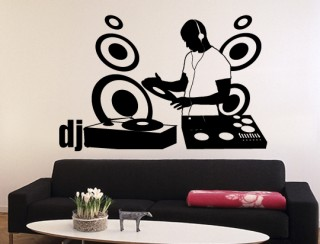 Wandtattoo - DJ turntable