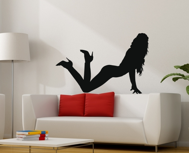 akt erotik frau wandtattoo silhouette wandsticker plusphoenix deko schlafzimmer. Black Bedroom Furniture Sets. Home Design Ideas