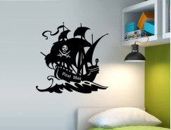 Wandtattoo -Piraten Schiff