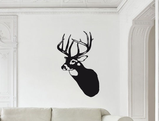 Wandtattoo wandsticker hirsch tier deko for Geweih wand