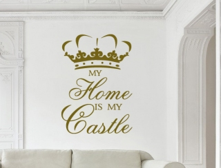 Wandtattoo - my home is my castle