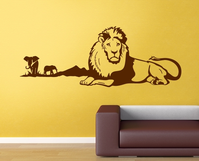 wandtattoo l we elefant afrika safari tiere wand tattoos. Black Bedroom Furniture Sets. Home Design Ideas