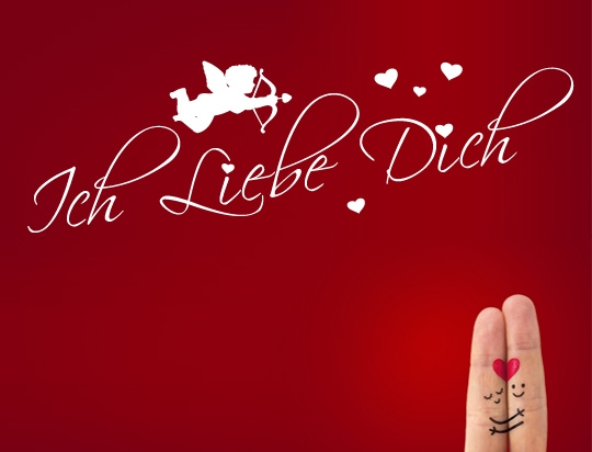 wandtattoo ich liebe dich liebeserkl rung spruch love. Black Bedroom Furniture Sets. Home Design Ideas