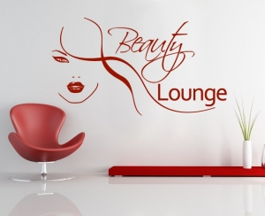 Wandsticker - beauty lounge