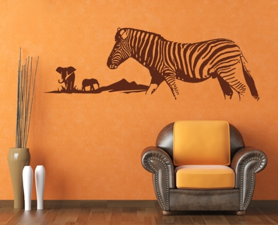 wandtattoo afrika zebra tier wandsticker. Black Bedroom Furniture Sets. Home Design Ideas